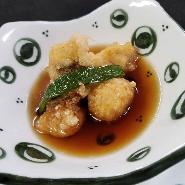 #福岡#和食#よひら旬魚といちじくの揚げ出し - from Instagram
