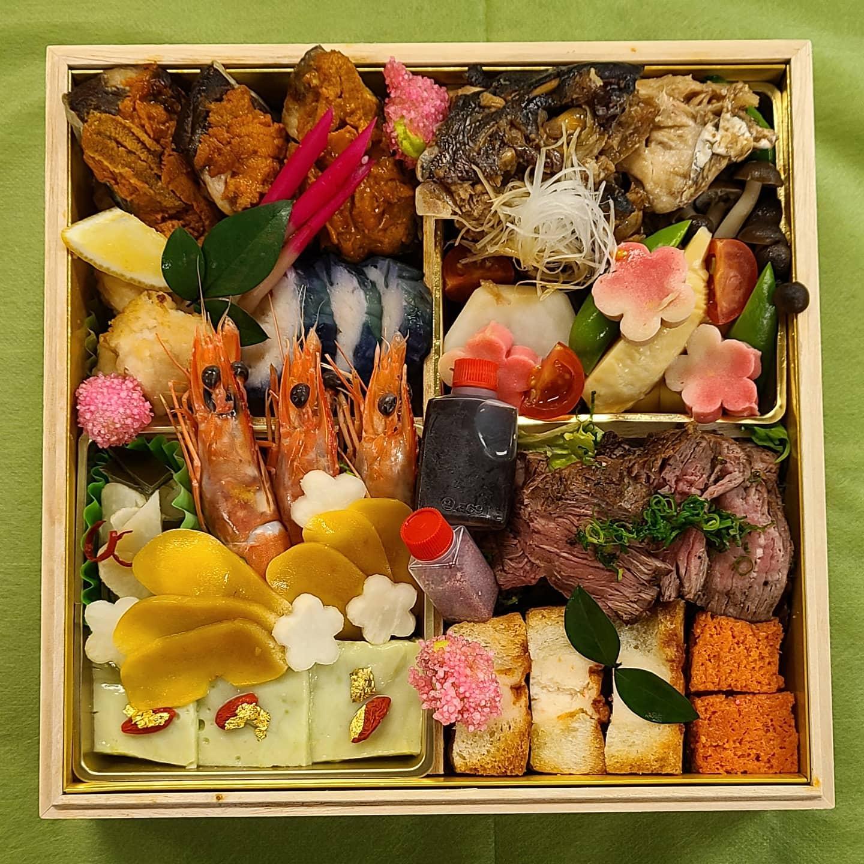 味彩よひら 贅沢折爪「雅」です豪華食材を使用し「味彩よひら」の味わいを詰め込みましたご自宅で色とりどりのお料理を堪能下さいませ#よひら#味彩よひら#福岡よひら#折爪#雅#持ち帰り弁当#仕出し#オードブル#日本料理#贅沢和食#豪華食材#色とりどり#古民家レストラン#個室の有る飲食店#福岡ランチ#姪浜ランチ#和食会席コース#テイクアウト#駐車場の有る飲食店#眺めの良い和食店#玉手箱#子連れで行ける和食店#ご褒美#お祝い#法要#記念日#節句#ひな祭り#福岡市西区愛宕#山の上に有る和食店